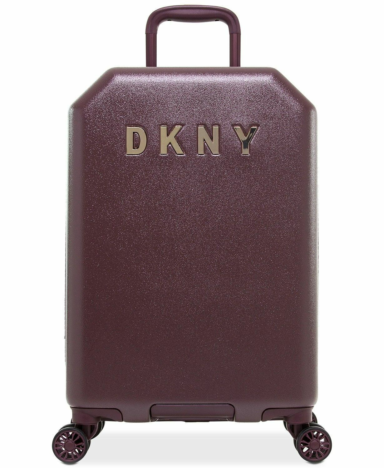 "DKNY Burgundy Allure 20"" Hardside Carry-On Spinner Suitcase"