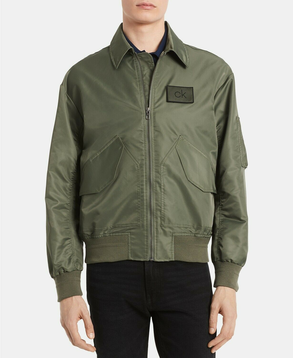NWT $178 Calvin Klein Men's Water-Resistant Bomber Jacket Co