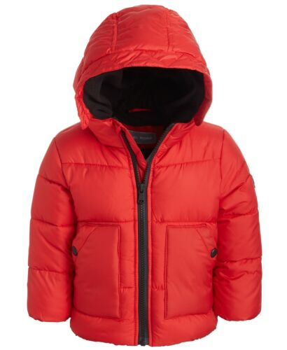 Michael Kors Baby Boys Hooded Puffer Jacket, Red, 12 Months