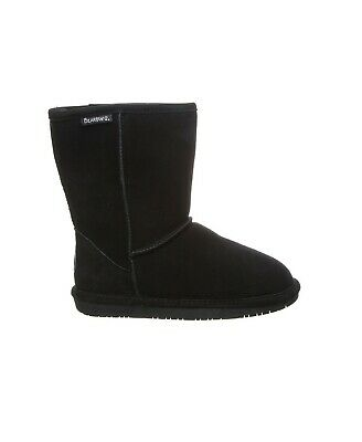 Women Bearpaw Emma Short Boot Black Suede 100% Authentic Brand New -