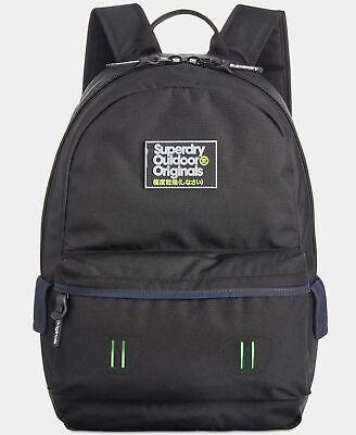 $178 Superdry Black Shoulder Backpack Work Travel Gym Bag School Bookbag