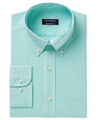 Bengal Stripe Striped Dress Shirt - Club Room Men's Regular Fit Performance Bengal Stripe Dress Shirt 18 X 34/35