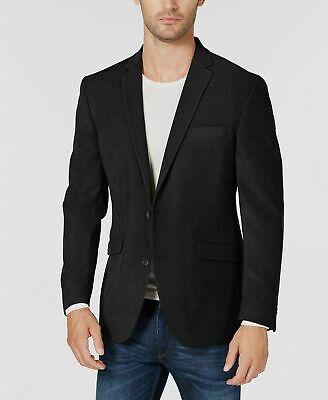 $295 Kenneth Cole Black Slim-Fit Ultrasuede Sport Coat Mens 40R 40 NEW