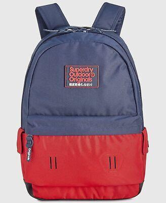 $175 Superdry Blue Shoulder Backpack Work Travel Gym Bag School Bookbag