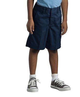 (Dickies Boys/Girls Classic Fit Straight Leg Flat Front Uniform Short Size 4-20)