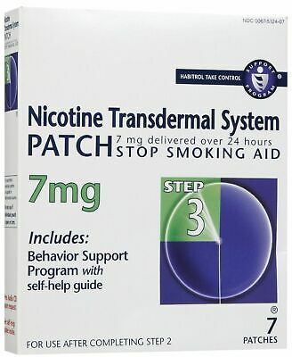 2020 NICOTINE TRANSDERMAL SYSTEM STEP 3 (07) PATCHES @ 7mg (Listing A)