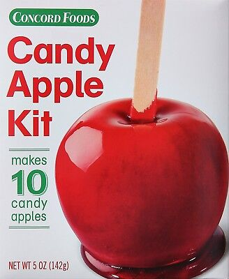 Concord Foods Candy Apple Red Kit, Makes 10 Red Candy Apples (Halloween Candy Apple)