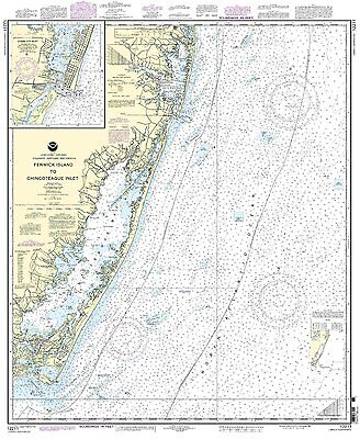 NOAA Chart Fenwick Island to Chincoteague Inlet to Ocean City Inlet 12211