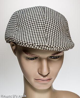 Zeitungsjunge Kappe 585ms Style Hellbraun & Braune Herren Kariert Kostüm - Zeitung Junge Kostüm