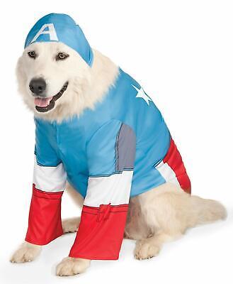 Captain America Dog Costume - LARGE - Shirt & Hood - Marvel - Rubie's - NWT](Captain America Dog Costume)