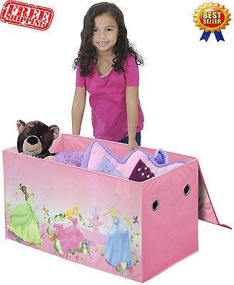 Collapsible Storage Trunk Kids Toy Box Disney Princess Fu...