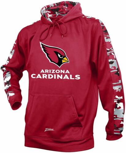 Zubaz NFL Men's Arizona Cardinals Pullover Hoodie with Camo Print, Maroon>