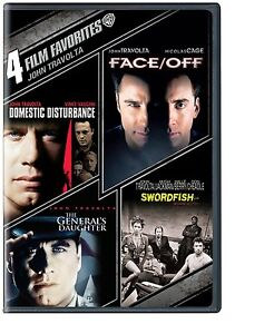 4 TRAVOLTA DVD SWORDFISH FACE OFF GENERALS DAUGHTER DOMESTIC DISTURBANCE R1 The