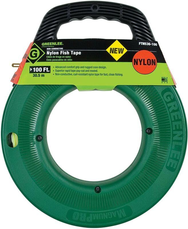 Greenlee FTN536-100 Nylon Fish Tape 100ft MagnumPRO