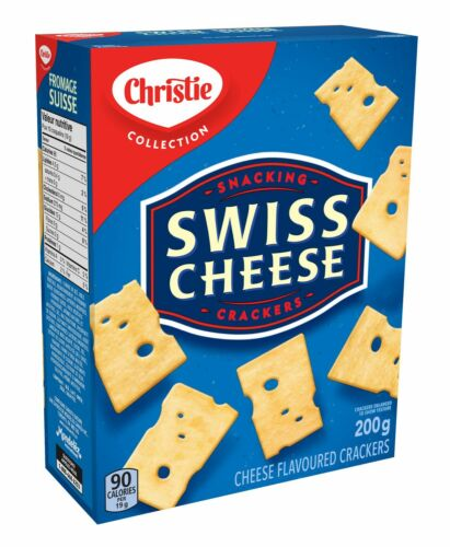 Christie Swiss Cheese Crackers . 6 Boxes . 200g each . Delicious . FREE SHIPPING