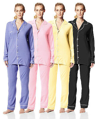 Casual Nights Womens Sleepwear Classic Long Sleeve Pajama Set