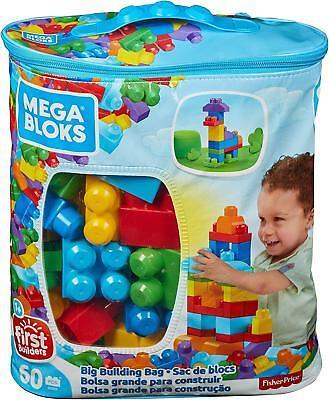 Mega Bloks DCH55 - Bausteinebeutel Medium 60 Teile Grundfarben Alter Ab12