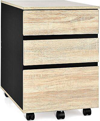 3-drawer Mobile File Cabinet Under Desk For Legal Letter File Home Storage