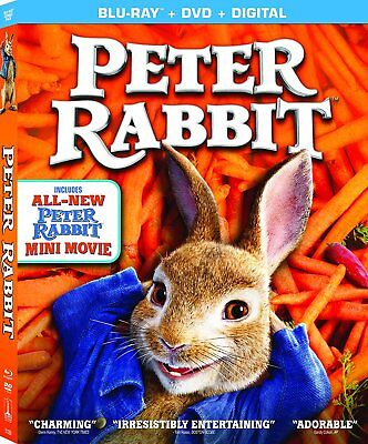 Peter Rabbit  Blu Ray   Dvd   Digital  2018  W Slip Cover    New   Sealed