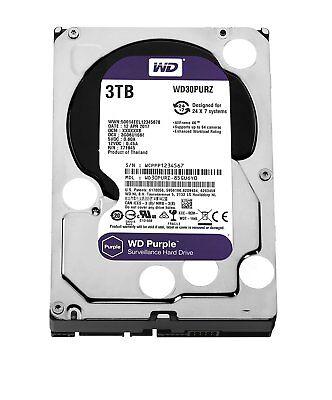 WD Purple 3TB Hard-nosed Drive Surveillance WD30PURZ SATA 6 Gbs 64MB Western Digital