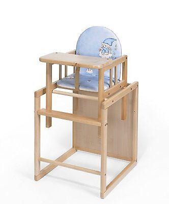 1 Holz-hochstuhl (Muster Baby Hochstuhl 2 in 1 Kinderhochstuhl BUCHE Holz PAUL umbaubar Esstisch)