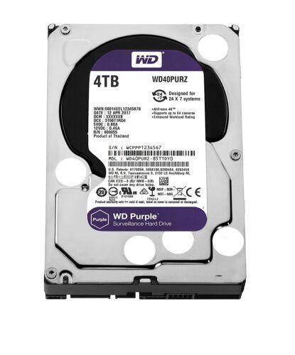 Wd Purple 4 Tb Surveillance Hdd Sata Lll 5400 Rpm Internal Hard Drive Wd40purz