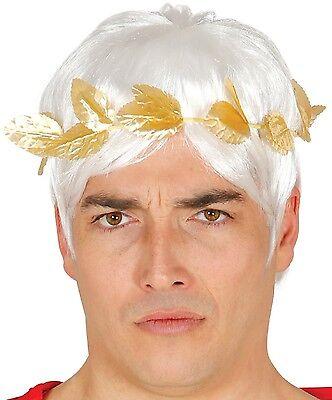 Herren Blattgold Julius Cäsar Stirnband Ägyptisch Krone Grichischer Maskenkostüm