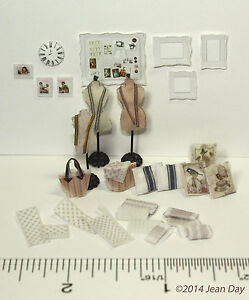 KIT-Quarter-scale-French-Sewing-Accessories-KIT-1-4-034-1-48-by-Jean-Day