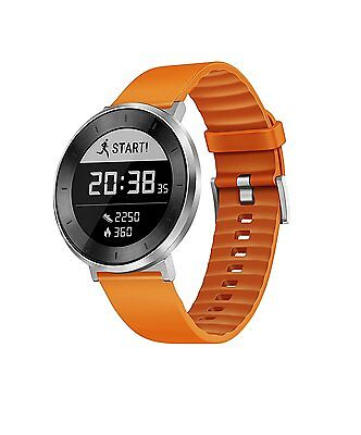 Huawei Fit Fitness ActivityTracker Watch Moonlight Silver/Orange US Warranty NEW