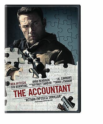 The Accountant (DVD 2016) NEW* Drama, Thriller, Crime NOW SHIPPING !!!!!!