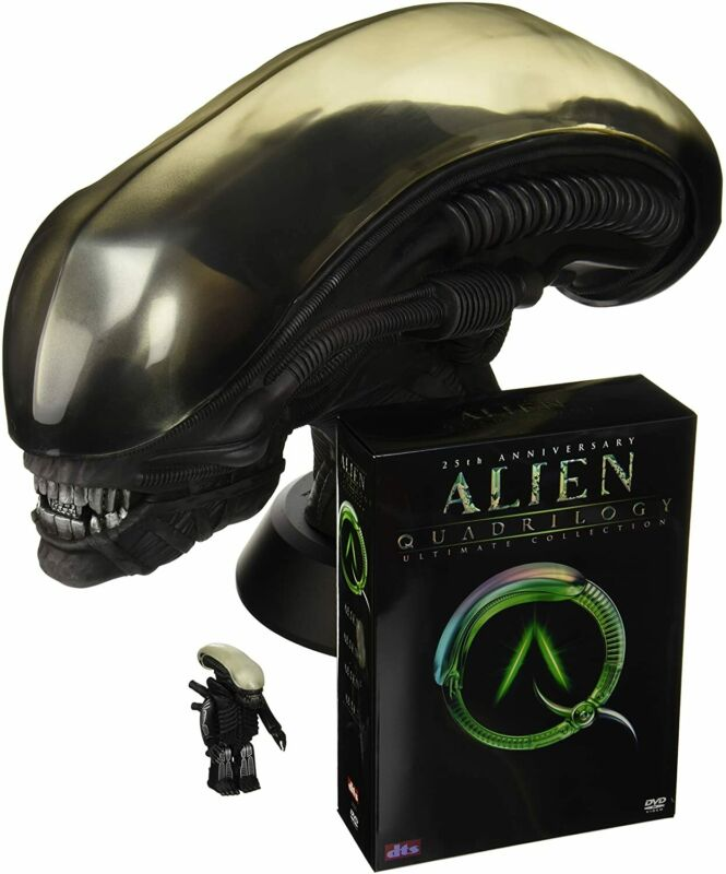 Alien 25th Anniversary Ultimate Collection w/ Alien Head figure From Japan