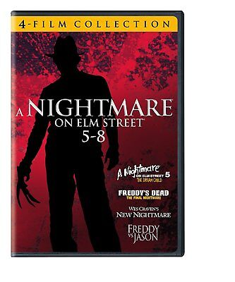 NEW A Nightmare on Elm Street DVD PART 5,6,7,8 MOVIE WES CRAVEN 4 DISC SET