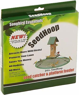Songbird Essentials SEIA30024  24 in. Seed Hoop Seed Catcher & Platform Feeder Seed Catcher Platform
