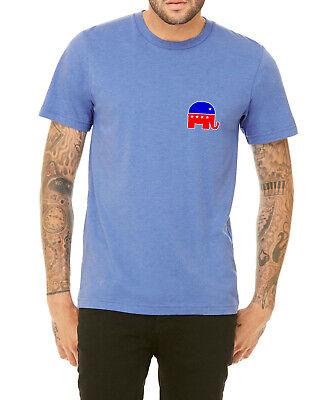 Men's Republican Elephant Symbol Tri-Blend H.Blue T Shirt C10 Elections 20 -