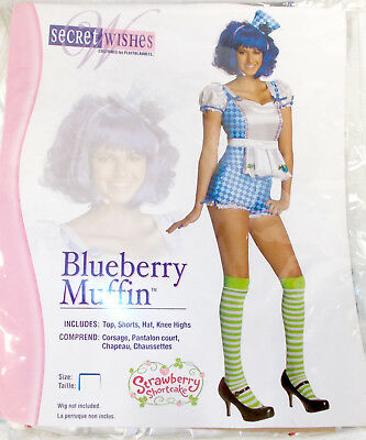 Secret Wishes Strawberry Shortcake Blueberry Muffin Womens Costume XS S M L NIP