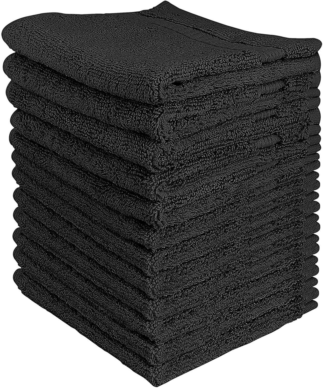 600 GSM 12 Pack Premium Cotton Washcloth  Set 12 x 12 Inches