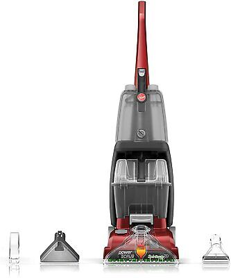 NEW! Hoover Power Scrub Deluxe Carpet Cleaner Shampooer - Red FH50150