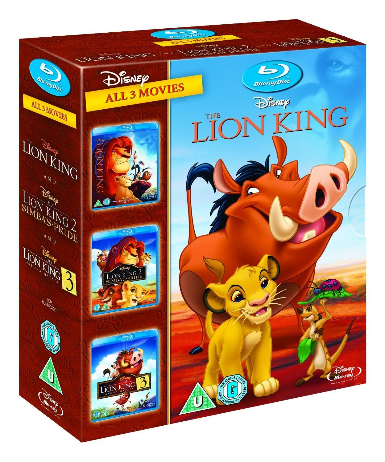 THE LION KING TRILOGY [Blu-ray Box Set] All Movies 1 2 3 Disney Movie Collection | eBay