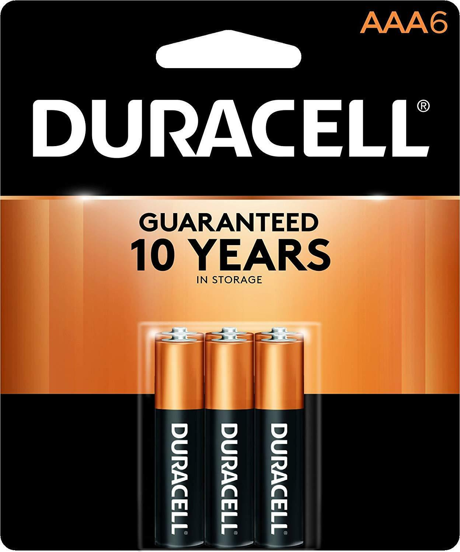 6 Pack Duracell AAA Alkaline Batteries