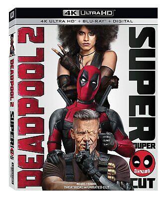 Deadpool 2 The Super Cut (4K Ultra HD+Blu-ray+Digital Copy) New No Slip Cover