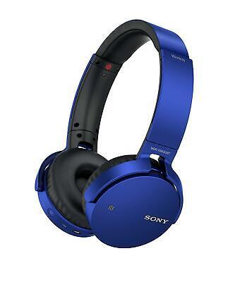 Sony MDR-XB650BTL Extra Bass Wireless Bluetooth On-Ear Headphones Blue Grade C
