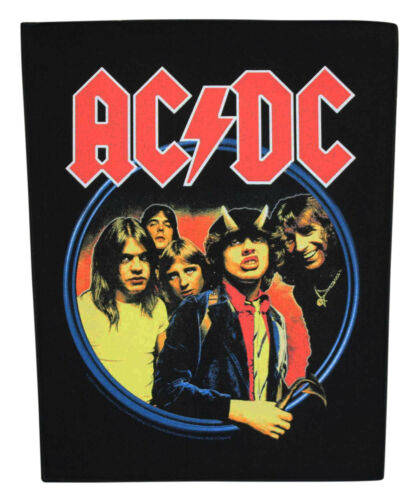 Large AC/DC Highway To Hell Woven Sew On Battle Jacket Back Patch