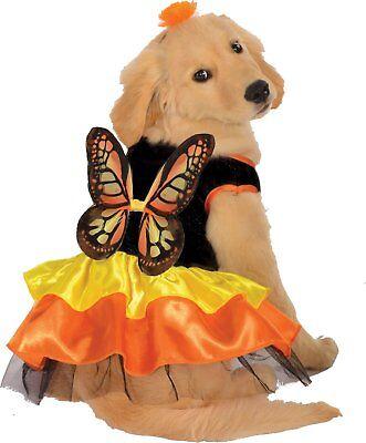 g Haustier-Kostüm Hund Schwarz Orange Gelb Flügel Kleid (Hund Schmetterling Kostüm)