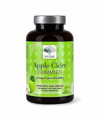 New Nordic Apple Cider Vinegar 60 Gummies Best Before End :05/2020