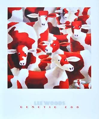 Lee Woods Genetic Zoo IV Kuehe Poster Kunstdruck Bild 50x40cm - Germanposters