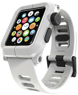 NEW LUNATIK EPIK Polycarbonate - Silicone Band for Apple Watch Case 42mm WHITE