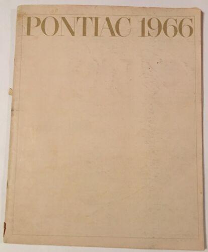 1966 Pontiac All Models / Car line Full color Brochure / Booklet