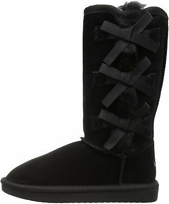 Koolaburra by UGG Kids' Victoria Tall Fashion Boot, Black, Size 4.0 Hxio