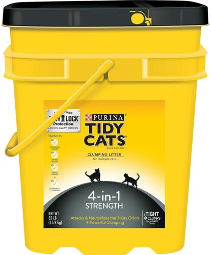 Purina Tidy Cats 4-in-1 Strength Multi Clumping Cat Litter , 35-lb Pail