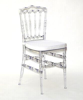 Stuhl Küchenstuhl Esszimmer Wohnzimmer Saal Hochzeit transparent Acrylglas